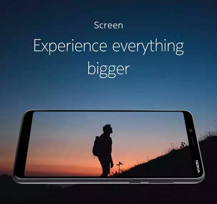 Nokia 3.1 plus display