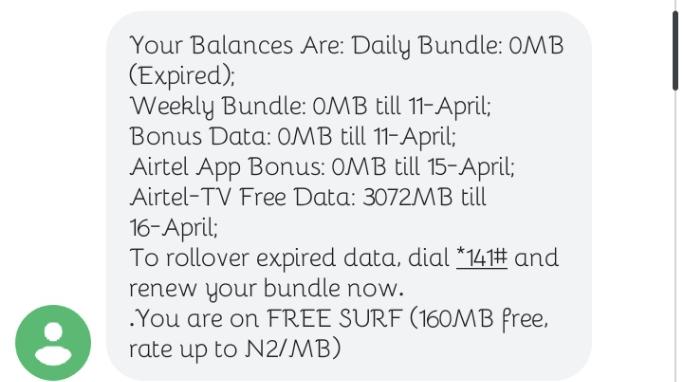 Airtel TV free 3 GB DATA